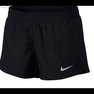 Nike Black Running Shorts In Size-L